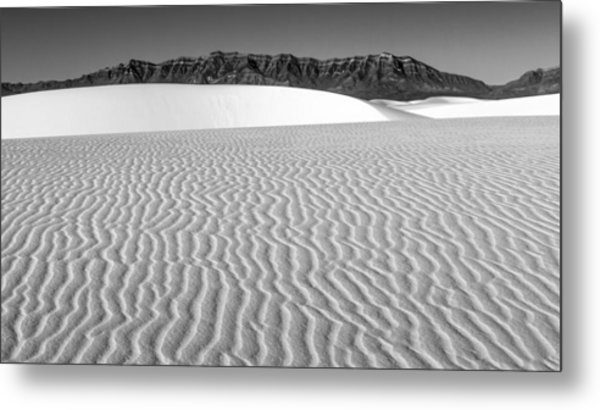 White Sands And San Andres Mountains Metal Print