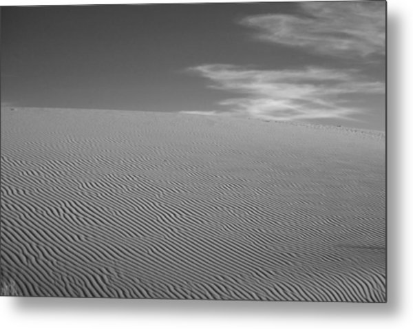 White Sands Dune Metal Print by Peter Tellone