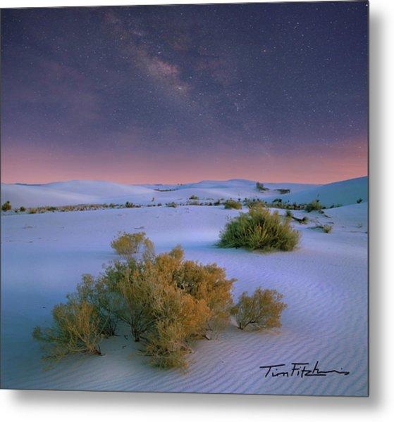 White Sands Starry Night Metal Print