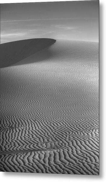 White Sands Sunset Dune Metal Print