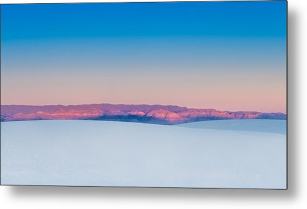 White Sands Sunset Metal Print