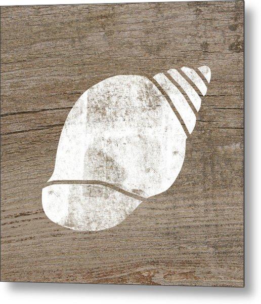 White Seashell- Art By Linda Woods Metal Print