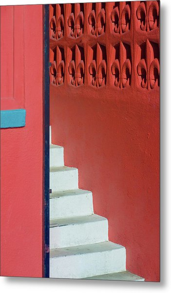 White Staircase Venice Beach California Metal Print