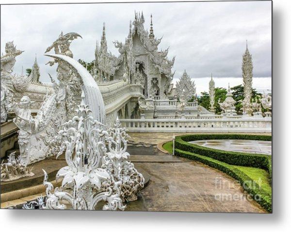 White Temple Thailand Metal Print