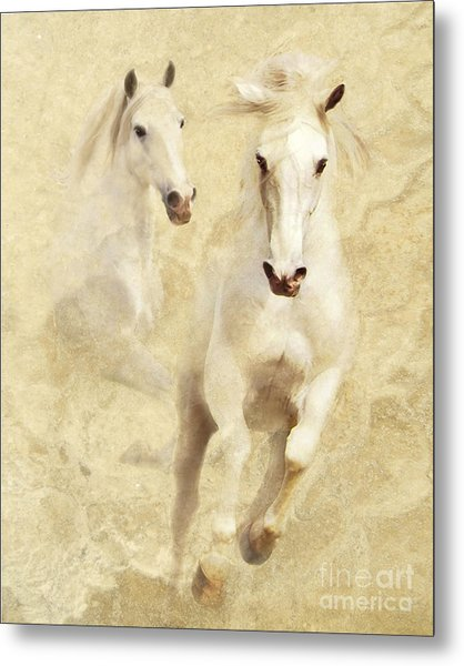 White Thunder Metal Print