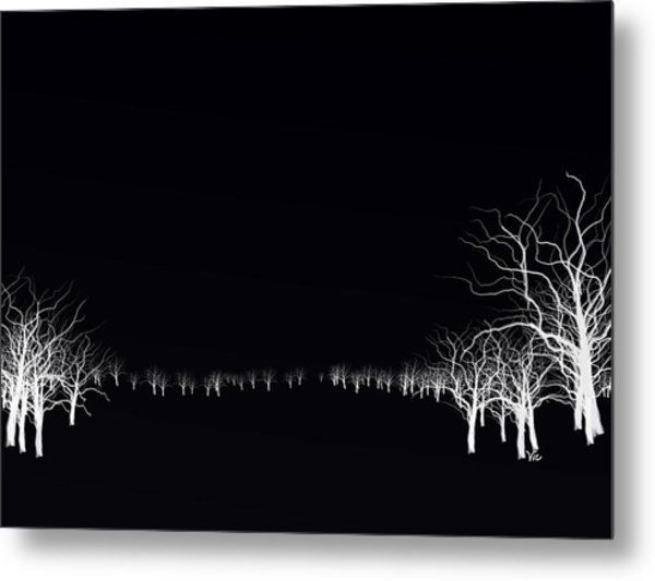 White Tree Metal Print