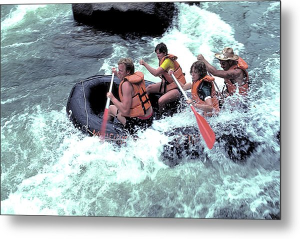 White Water Rafting Metal Print by Carl Purcell