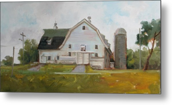 Whitehouse Dairy Barn Metal Print by Nora Sallows