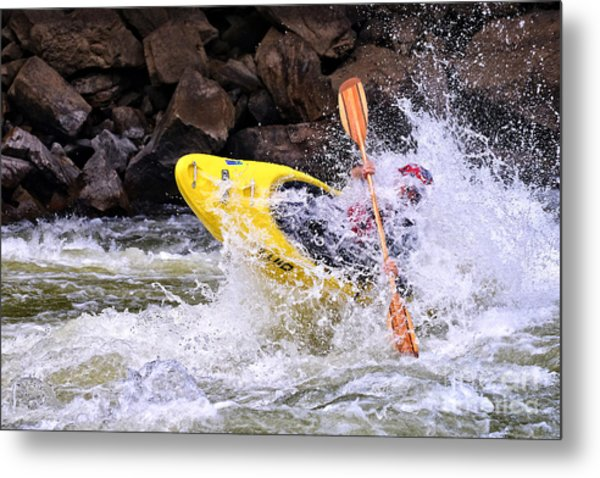 Whitewater On The New River Metal Print