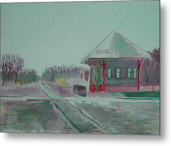 Whitewater Rail Station Metal Print