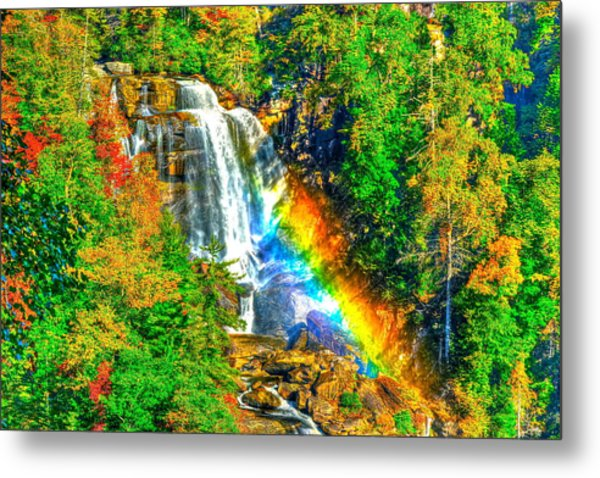 Whitewater Rainbow Metal Print