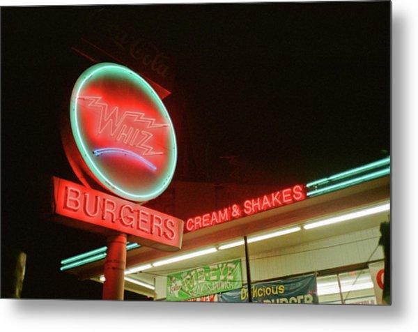 Whiz Burgers Neon, San Francisco Metal Print