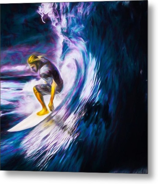 Who Likes To #surf. #surfing Is #fun Metal Print