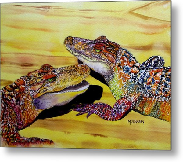 Who Loves Ya Baby Metal Print by Maria Barry