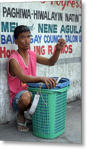 Who Will Buy My Laundry Baskets Metal Print by Jez C Self