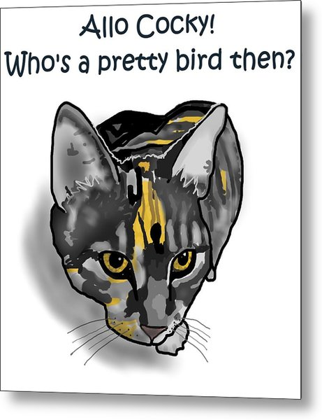 Who's A Pretty Bird Then? Metal Print