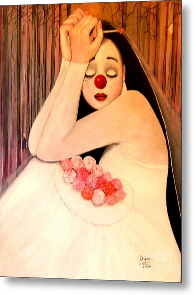 Why Is The Bride Crying Metal Print by Patricia Velasquez de Mera