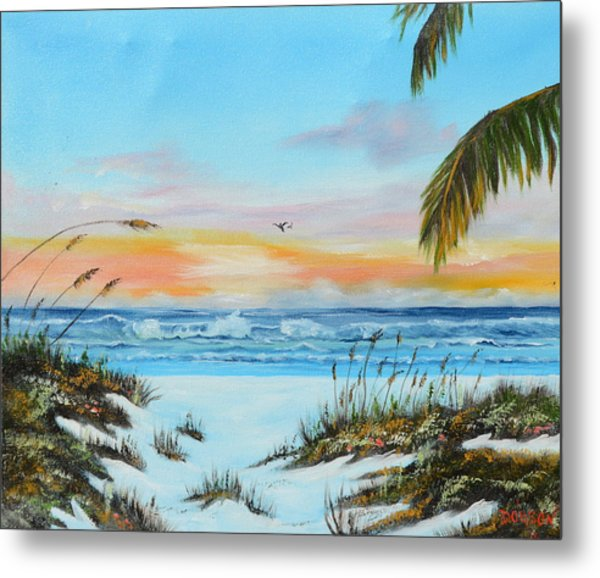 Why Not Siesta Key Metal Print