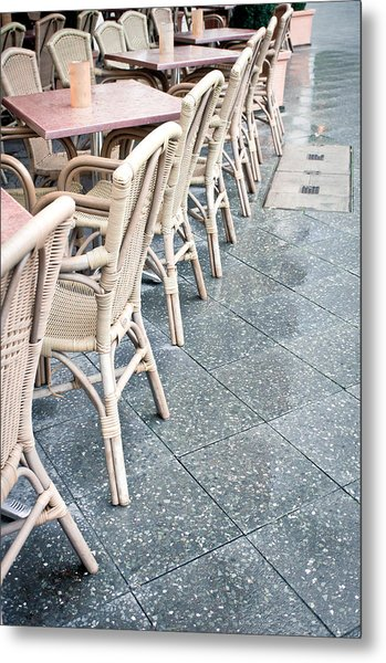 Wicker Chairs Metal Print