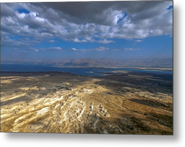 Wide View From Masada Metal Print