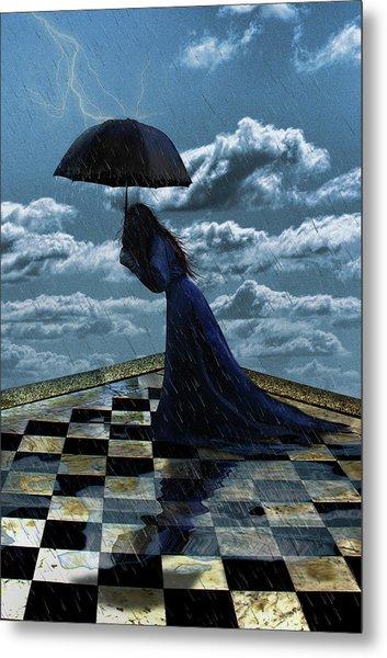 Widow In The Rain Metal Print