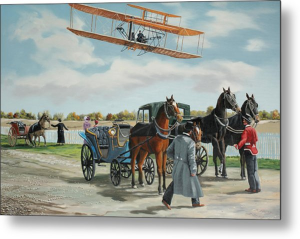 Wilbur Wright In France Metal Print by Kenneth Young