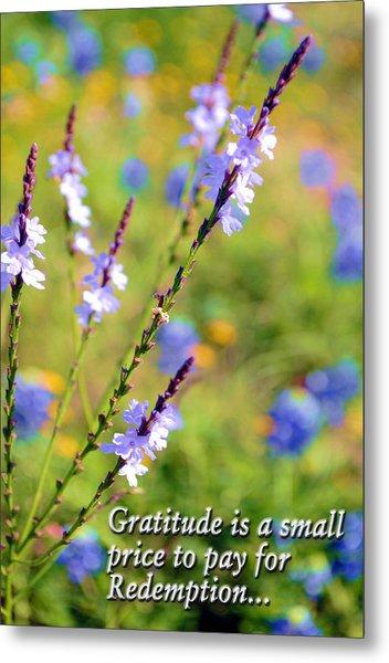 Wild About Gratitude 1 Metal Print
