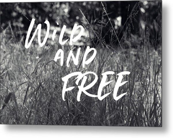 Wild And Free- Art By Linda Woods Metal Print