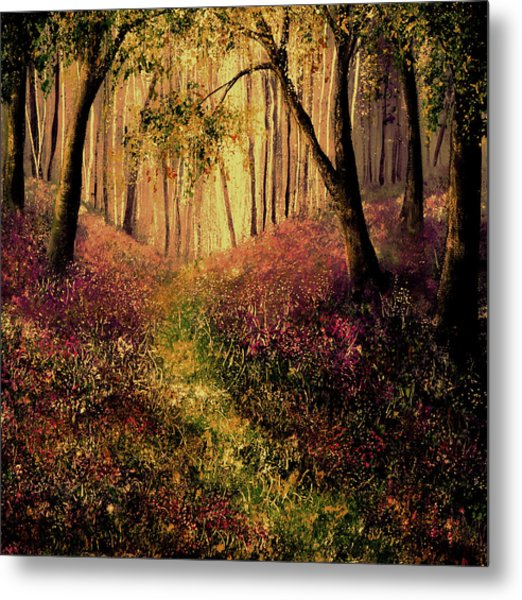 Wild Flower Forest Metal Print by Ann Marie Bone