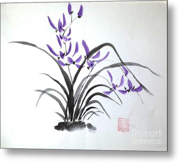 Wild Orchids Metal Print