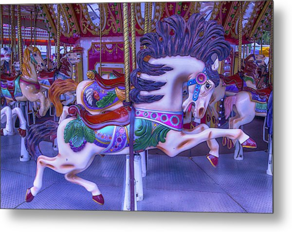 Wild Pony Ride Metal Print