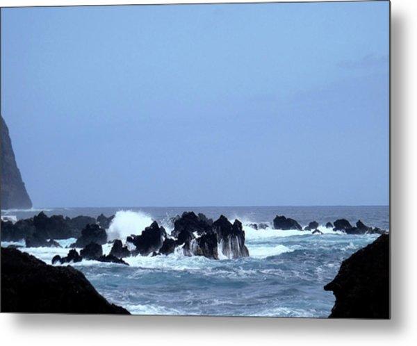 Wild Sea In Madeira Metal Print