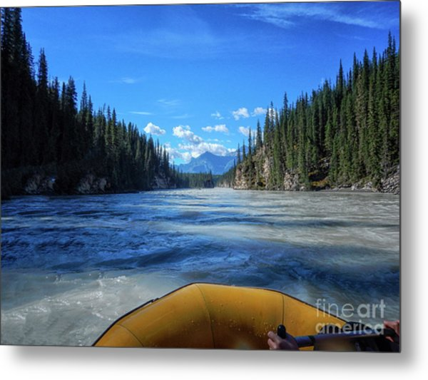Wild Water Rafting Metal Print