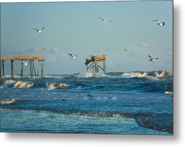Wild Waves At Nags Head Metal Print