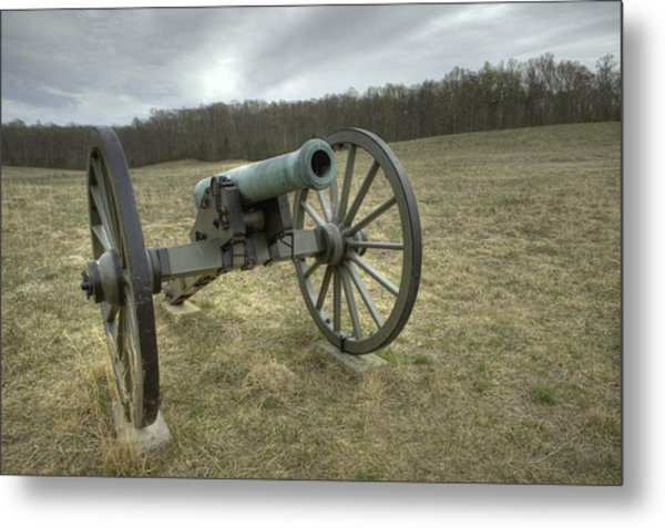 Wilderness Cannon Metal Print by Harry H Hicklin