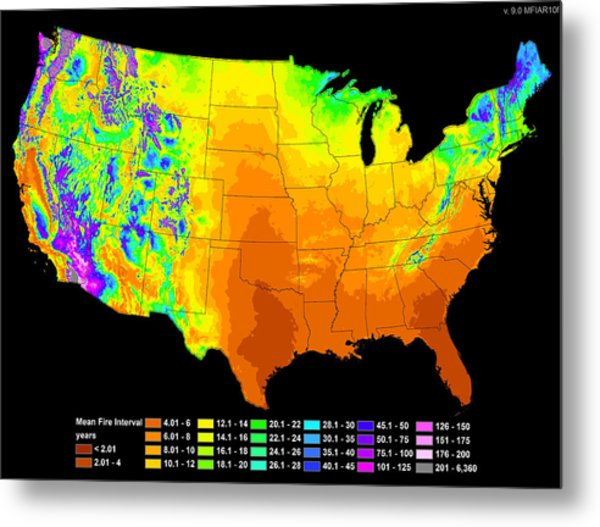 Wildfire Frequency Metal Print