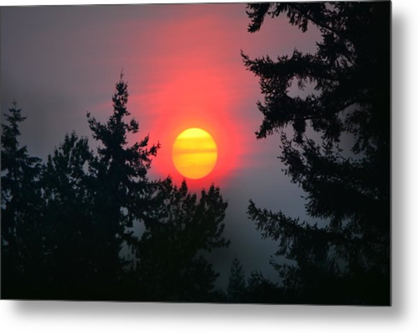 Wildfire Sunset Metal Print