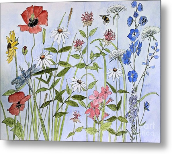 Wildflower And Blue Sky Metal Print