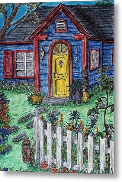 Wildflower Cottage Metal Print