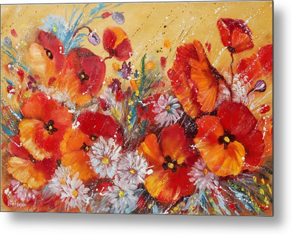 Wildflower Meadows Metal Print