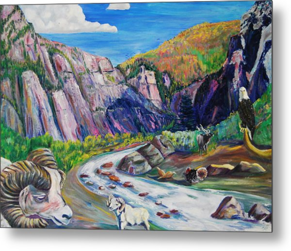 Wildlife On The Colorado River Metal Print by George Chacon