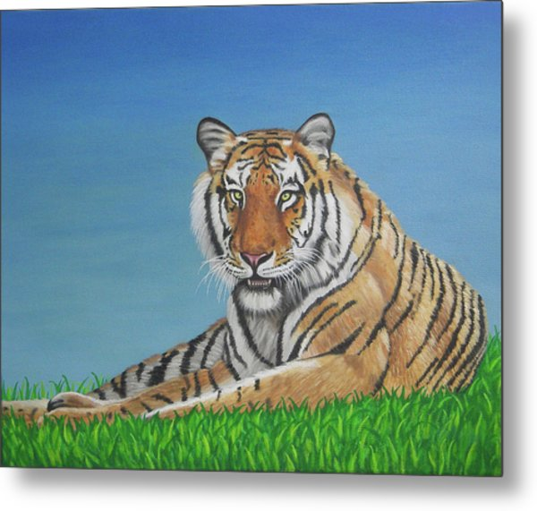 Wildlife Paintings Tiger Metal Print