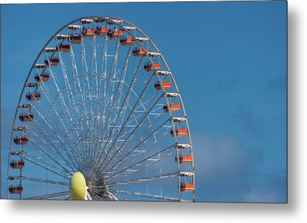 Wildwood Ferris Wheel Metal Print