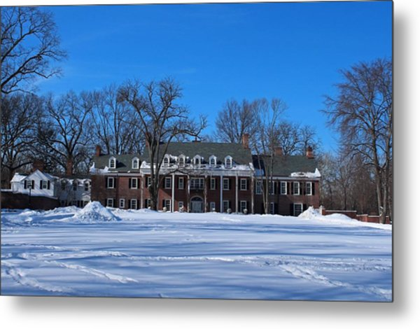 Wildwood Manor House In The Winter Metal Print