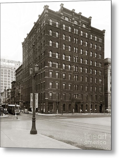 Wilkes Barre Pa Hollenback Coal Exchange Building Corner Of Market And River Sts April 1937 Metal Print