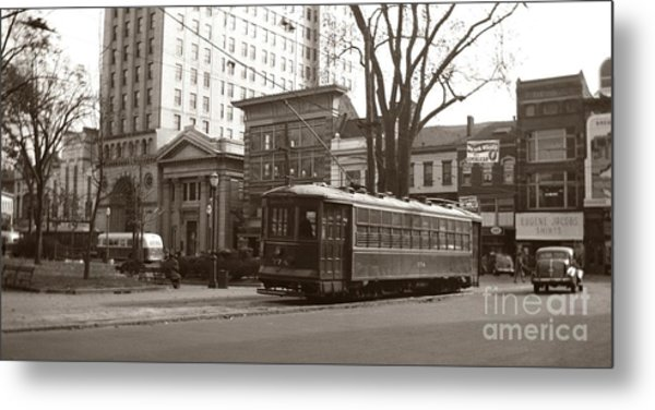 Wilkes Barre Pa Public Square Oct 1940 Metal Print