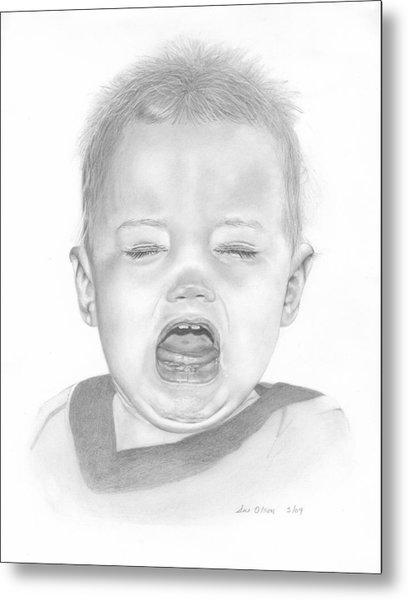Will In Tears Metal Print by Sue Olson