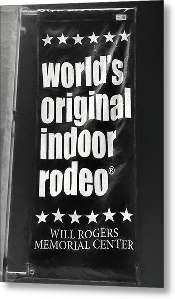Will Rogers Rodeo Bw Metal Print