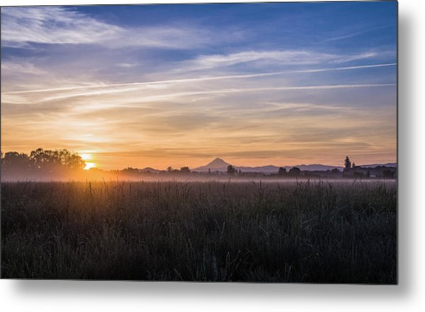 Willamette Valley Sunrise Metal Print