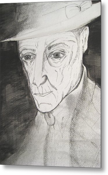 William S. Burroughs Metal Print by Darkest Artist